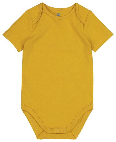 bodysuit organic cotton stretch yellow yellow - 1000017813 - hema