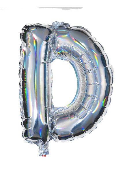 ballon alu lettre D D argenté - 60800435 - HEMA