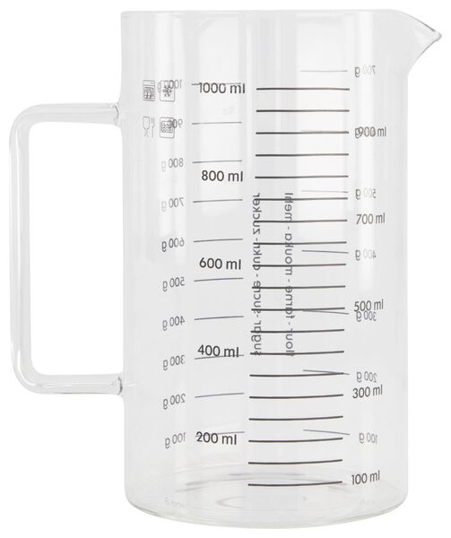 mesureur 1l verre - 80890034 - HEMA