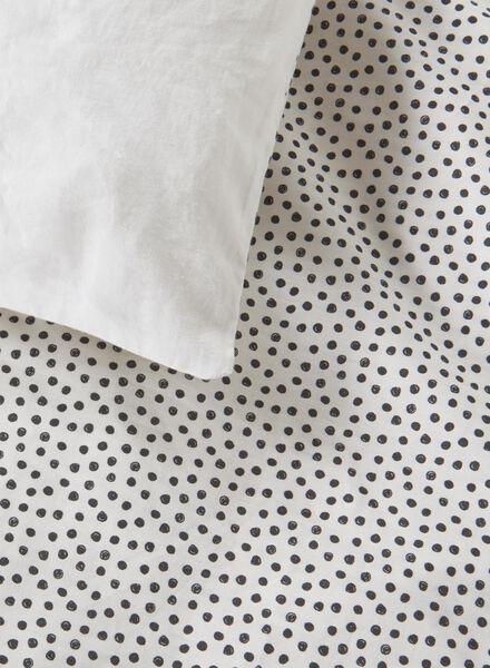 duvet cover - soft cotton - 240 x 220 cm - white dot - 5700084 - hema