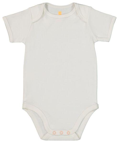 4 bodysuits cotton white 98/104 - 33303925 - hema