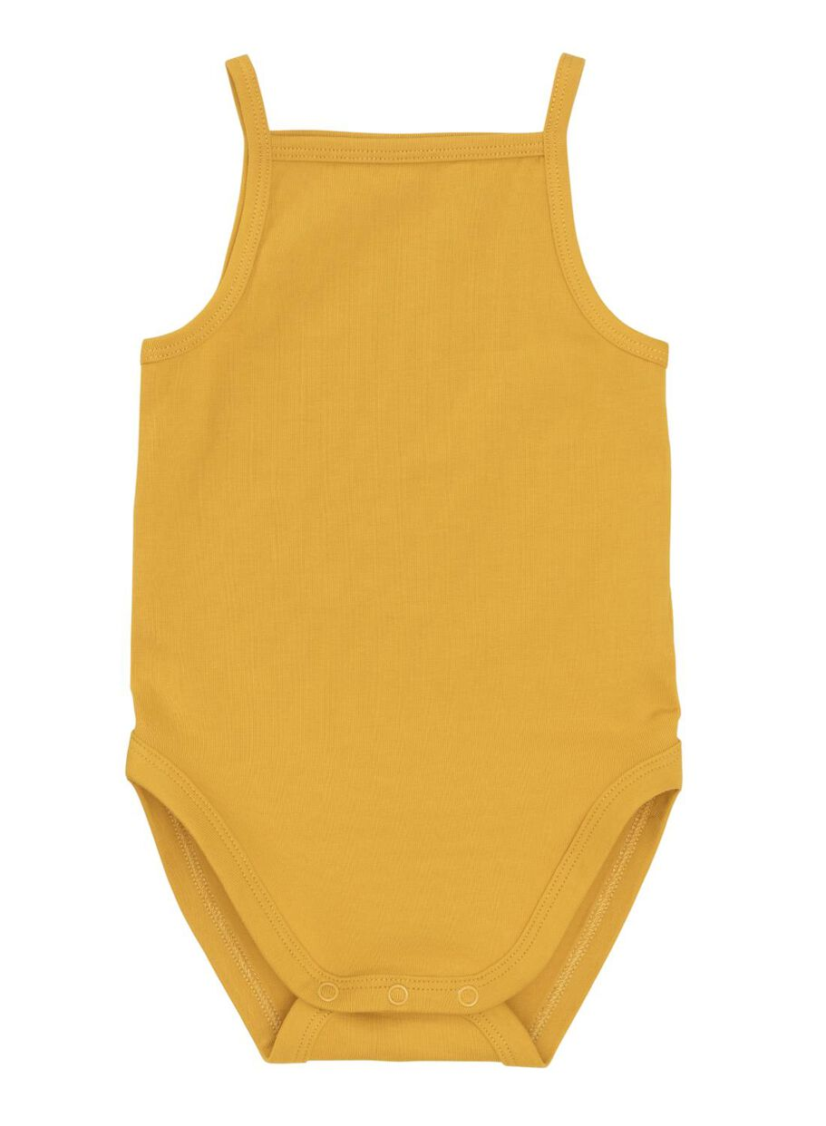 8598410b4c34 bodysuit organic cotton stretch yellow ochre - HEMA