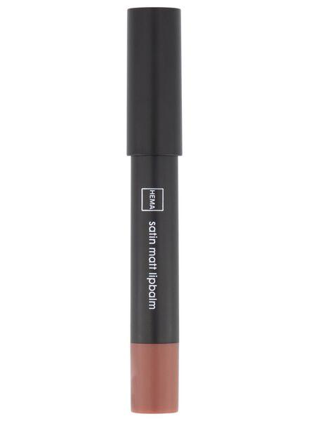 baume à lèvres satin matt 16 light nude - 11230316 - HEMA