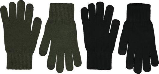 HEMA 2-pak Herenhandschoenen Touchscreen Zwart (zwart)