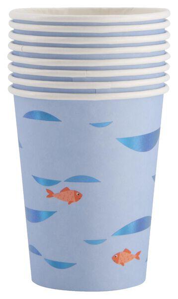 8er-Pack Pappbecher, 250 ml , Unterwasserthema - 14200321 - HEMA