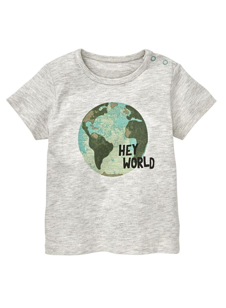 bec22b4eea05cc images baby T-shirt grey melange grey melange - 1000012994 - hema