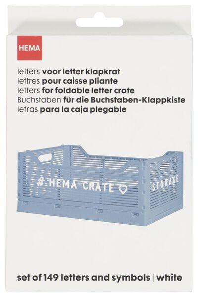 letters voor klapkrat - wit - 39821030 - HEMA