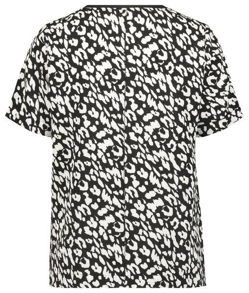 Damen-T-Shirt, Animal, recycelt schwarz schwarz - 1000022996 - HEMA