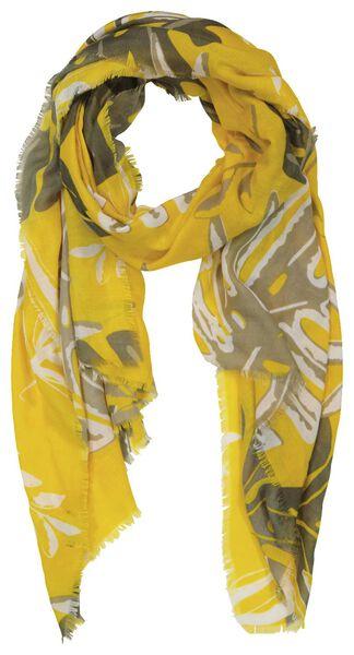 écharpe femme 200x80 feuilles jaune - 1780033 - HEMA