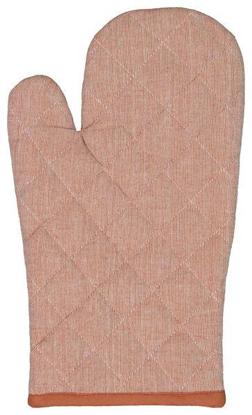 gant de cuisine coton - terracotta - 5410082 - HEMA