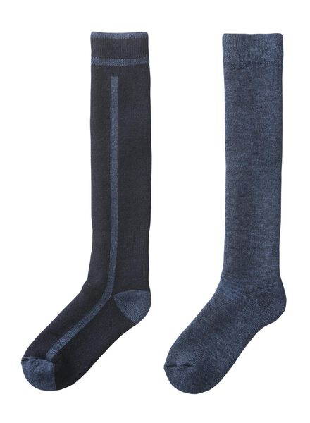 2er-Pack Herren-Socken blau blau - 1000010431 - HEMA