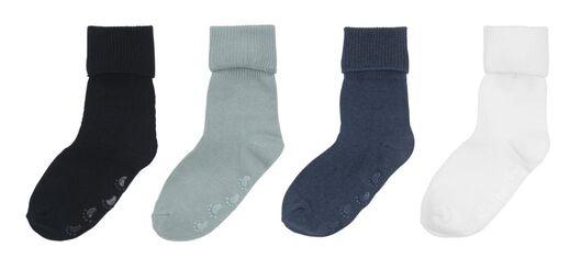4er-Pack Baby-Söckchen blau blau - 1000009521 - HEMA