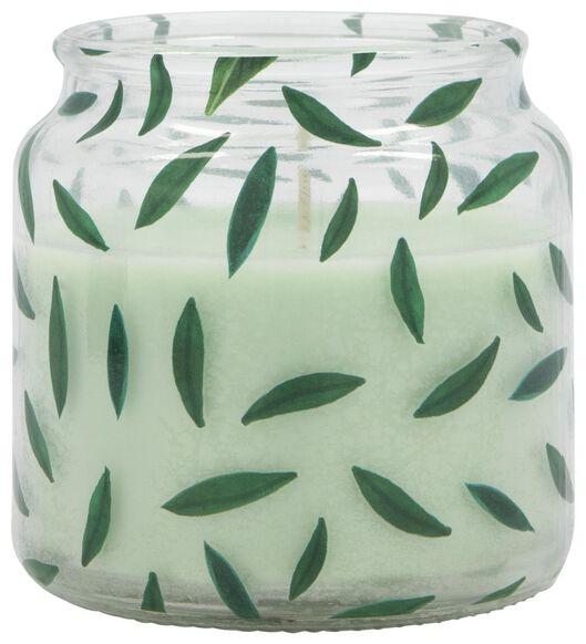 bougie dans un verre - Ø 10 cm - vert clair - 13502528 - HEMA