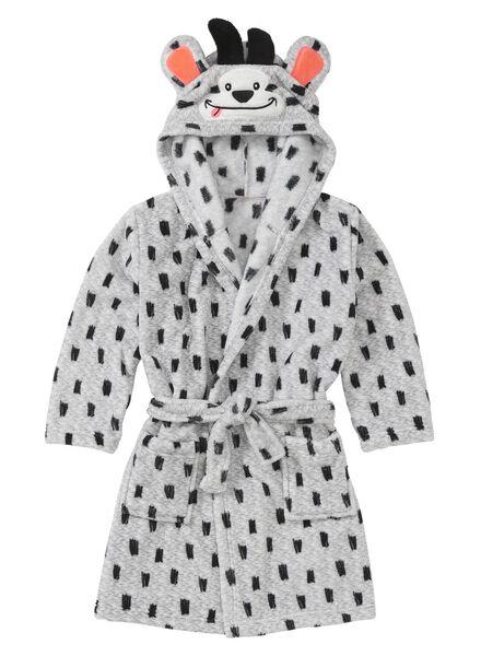 children's bathrobe grey melange grey melange - 1000006643 - hema