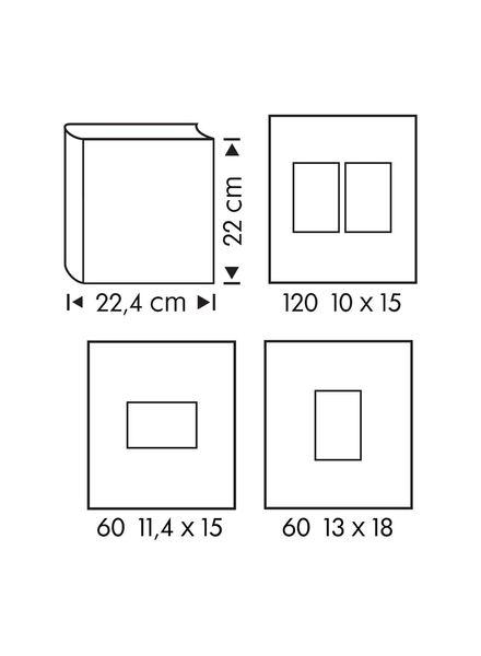 Fotoalbum mit Sichtfenster, 22 x 22.4 cm, silbern - 14633319 - HEMA