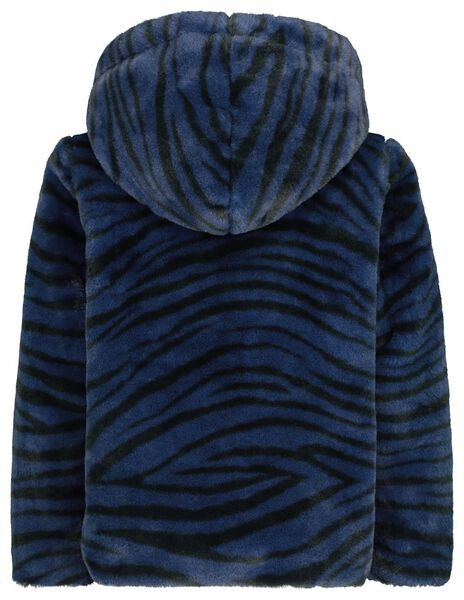 children's coat imitation fur dark blue dark blue - 1000020444 - hema