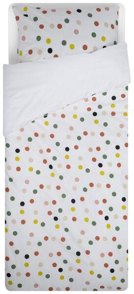 HEMA Housse De Couette Enfant - 140x200 - Coton Doux - Blanc À Pois