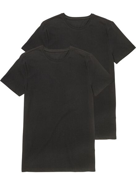 HEMA 2er-Pack Herren-T-Shirts Schwarz