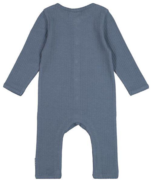 combinaison nouveau-né côtelée coton biologique stretch bleu foncé bleu foncé - 1000022132 - HEMA