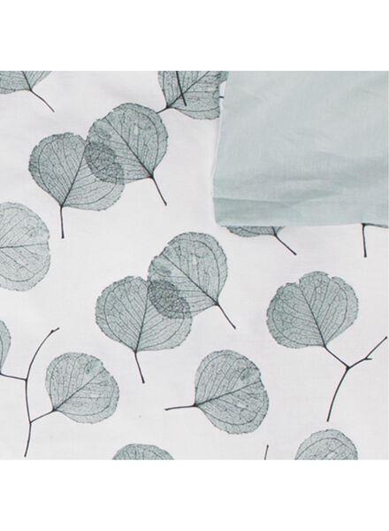 housse de couette - coton doux - feuilles blanc blanc - 1000016615 - HEMA