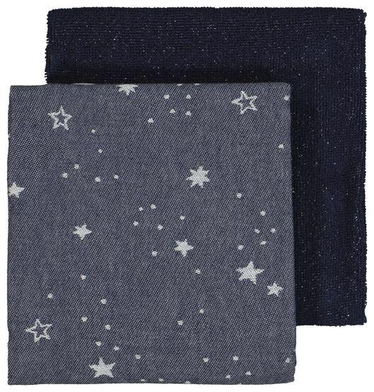 Image of HEMA 2 Tea- And Kitchen Towels Stars Blue