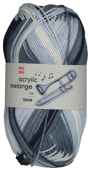 HEMA Garen Acryl 100gram Melange Blauw (blauw)