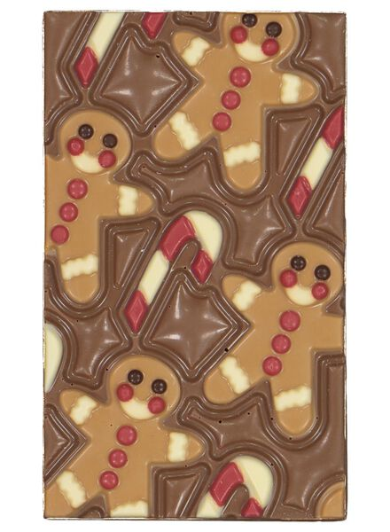 chocolate bar gingerbread man - 10030011 - hema