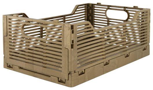 caisse pliante tableau recyclée 20x30x11.5 doré - 25140052 - HEMA