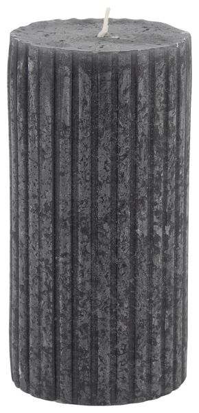 rustic candle with relief - 7x13 - black - 13502607 - hema