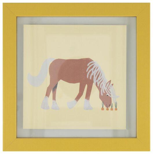 HEMA Fotolijst 17x17 Paard Geel