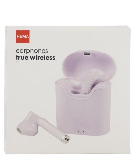oortelefoon draadloos lila - 39600163 - hema