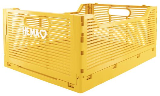 Buchstabentafel-Klappkiste, recycelt, 30 x 40 x 17 cm, gelb - 39821024 - HEMA