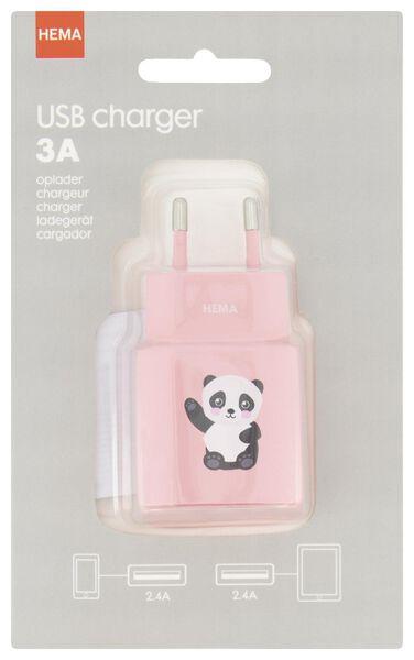 USB-Ladegerät, 3 A, Panda - 39680126 - HEMA