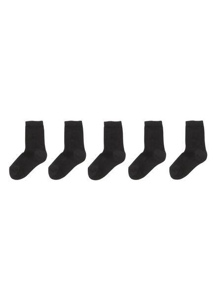 5er-Pack Kinder-Socken schwarz schwarz - 1000001852 - HEMA