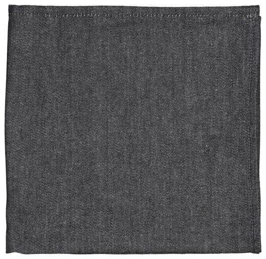 torchon 65x65, noir - 5400109 - HEMA