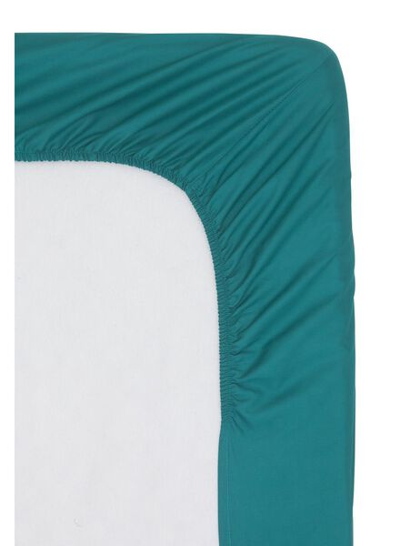 fitted sheet - hotel cotton percale - 140 x 200 cm - sea green - 5100091 - hema