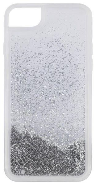 Schutzhülle für iPhone 6/6S/7/8/SE2020, Perlen, silbern - 39680104 - HEMA
