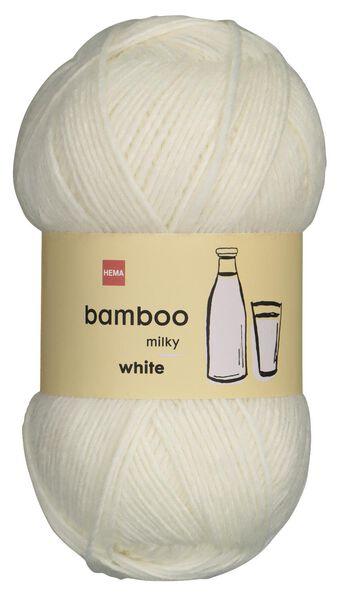 fil de laine bambou 100g blanc - 1400221 - HEMA