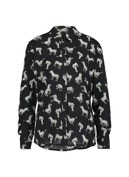 Damen-Bluse schwarz schwarz - 1000015119 - HEMA