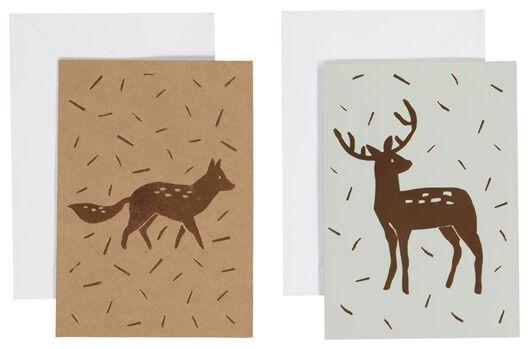 Image of HEMA 10 Christmas Cards 13.5x9.5 (gold)