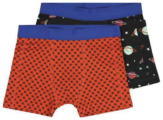 2-pack children's boxers planets black black - 1000020475 - hema
