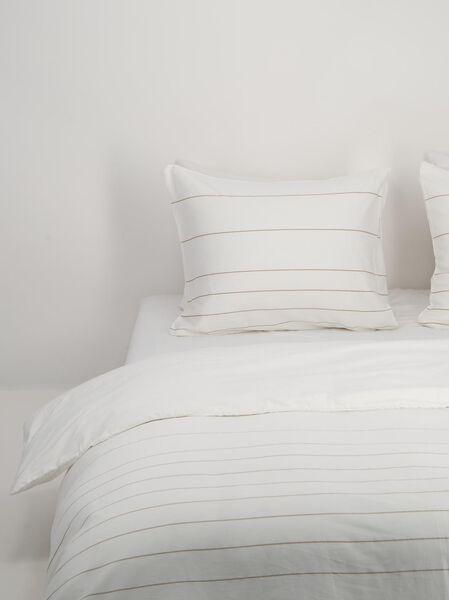 dekbedovertrek - hotel katoen satijn wit wit - 1000018690 - HEMA