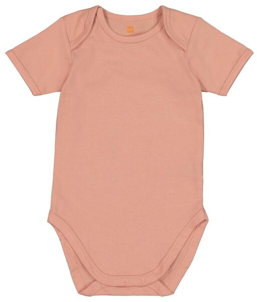 4 bodysuits organic cotton stretch pink pink - 1000018392 - hema