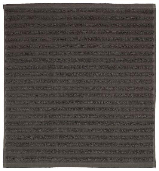 bath mat 50x50 stripe dark grey - 5230046 - hema
