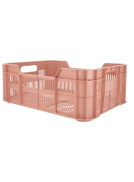 caisse 41 x 31 x 15 - plastique recyclé - rose rose 41 x 31 x 15 - 39892916 - HEMA