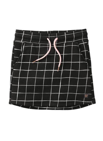 children's sweatshirt fabric skirt black black - 1000005802 - hema