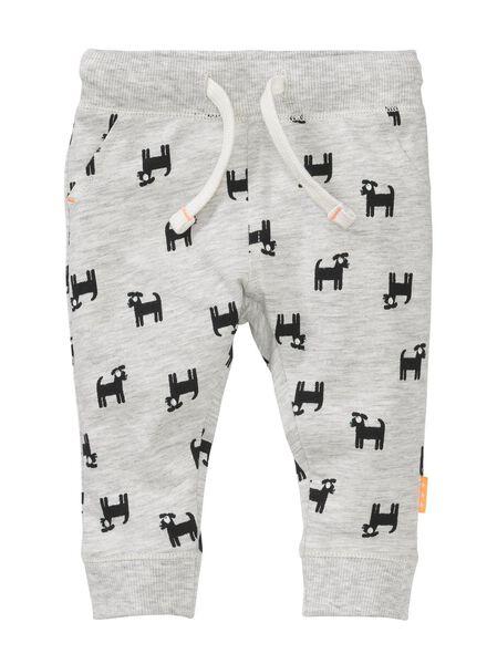 newborn trousers grey melange grey melange - 1000005603 - hema