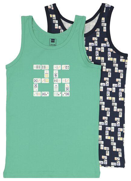 2er-Pack Kinder-Hemden, Dominosteine mintgrün mintgrün - 1000022745 - HEMA