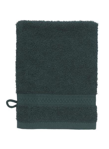 gant de toilette de qualité épaisse vert foncé gant de toilette - 5220016 - HEMA