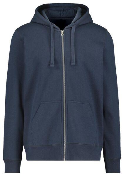 men's hooded cardigan dark blue dark blue - 1000014296 - hema